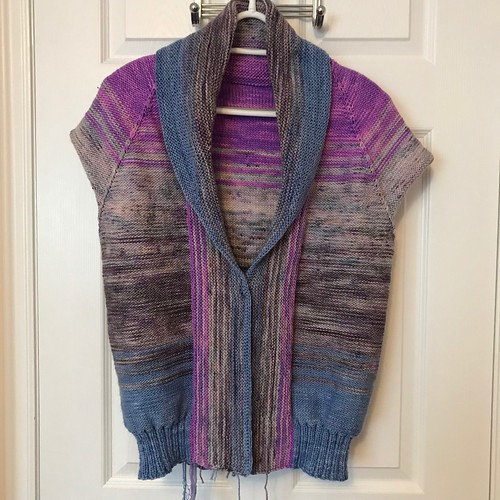 Sue2Knits Comfort Fade Cardi WIP - February 9, 2018, Front