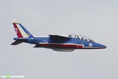 E152 7 F-UHRT - E152 - Patrouille de France - French Air Force - Dassault-Dornier Alpha Jet E - Duxford - 130908 - Steven Gray - IMG_9948