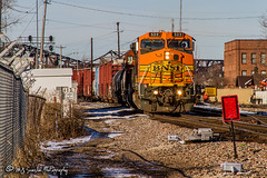 BNSF 523 | GE B40-8W | BNSF Thayer South Subdivision