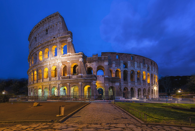 The Roman Colosseum Aurora HDR
