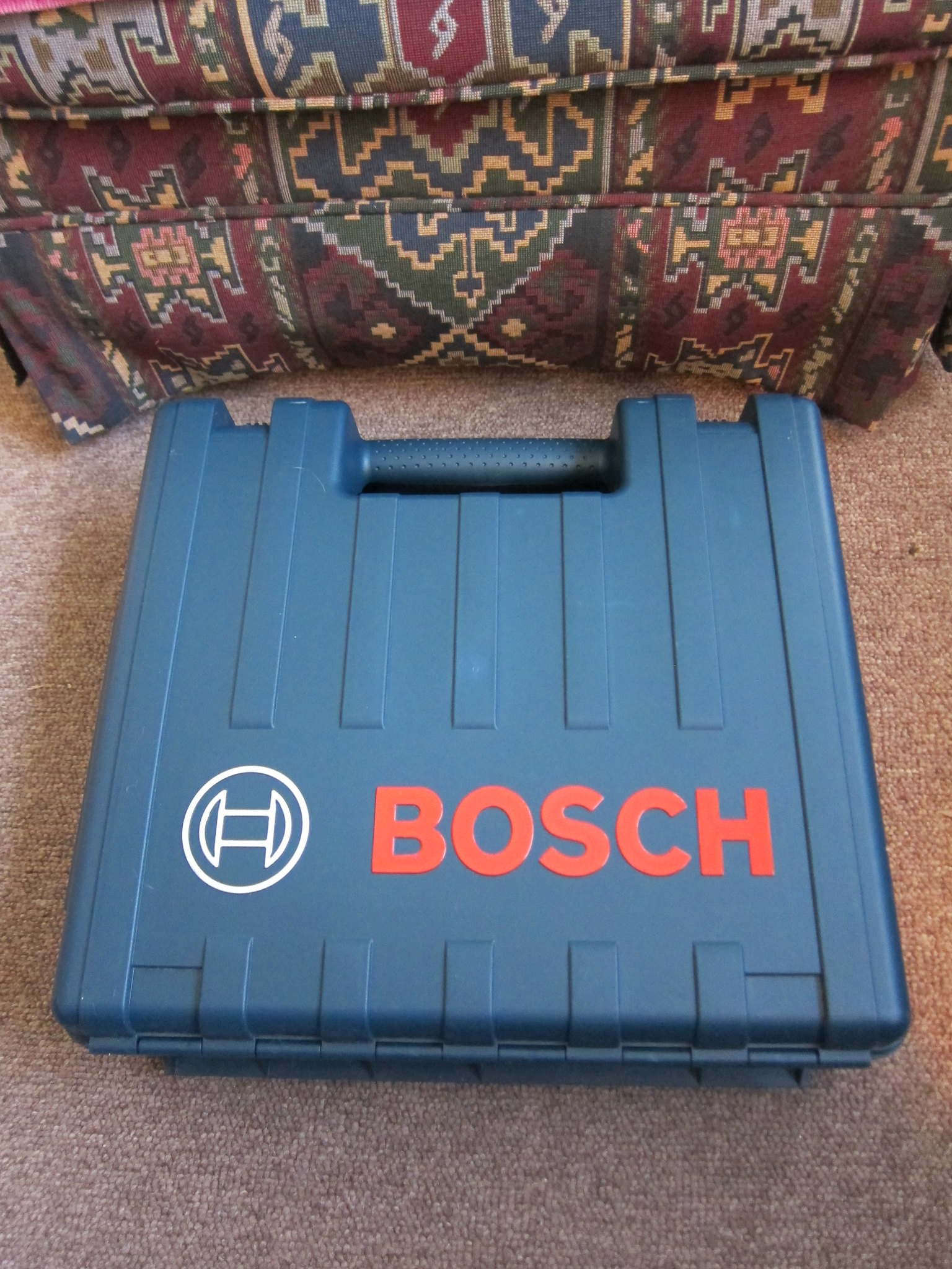 Molded plastic tool box, discarded