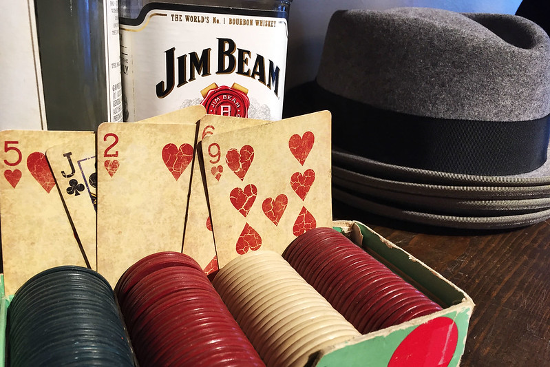 Cards, booze, and a fedora