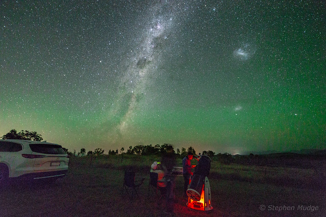 Green Airglow over South East Queensland