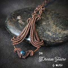 You've Got Swag - Jasper and Woven Copper Wire Necklace