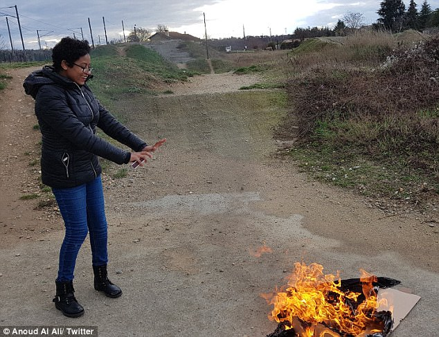 Middle Eastern women burn their hijabs for #NoHijabDay