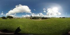 University of Hawaii's John Burns School of Medicine as seen from the Kaka'ako Waterfront Park in Honolulu -a 360° equirectangular VR