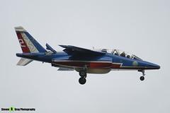 E135 F-TERX 2 - E135 - Patrouille de France - French Air Force - Dassault-Dornier Alpha Jet A - RIAT 2008 Fairford - 070711 - Steven Gray - IMG_7120