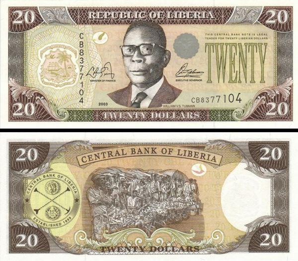 20 Dolárov Libéria 1999, P23a