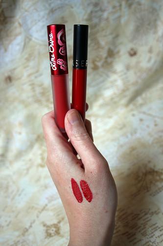 Limecrime Red Velvet vs Sephora Always Red