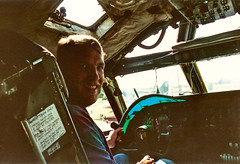 My brother Ian, Castle Air Museum B-52D 1992 or 3