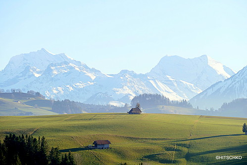 Buchholterberg, Sicht auf die Berneralpen