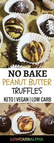 no bake peanut butter truffles keto vegan low carb