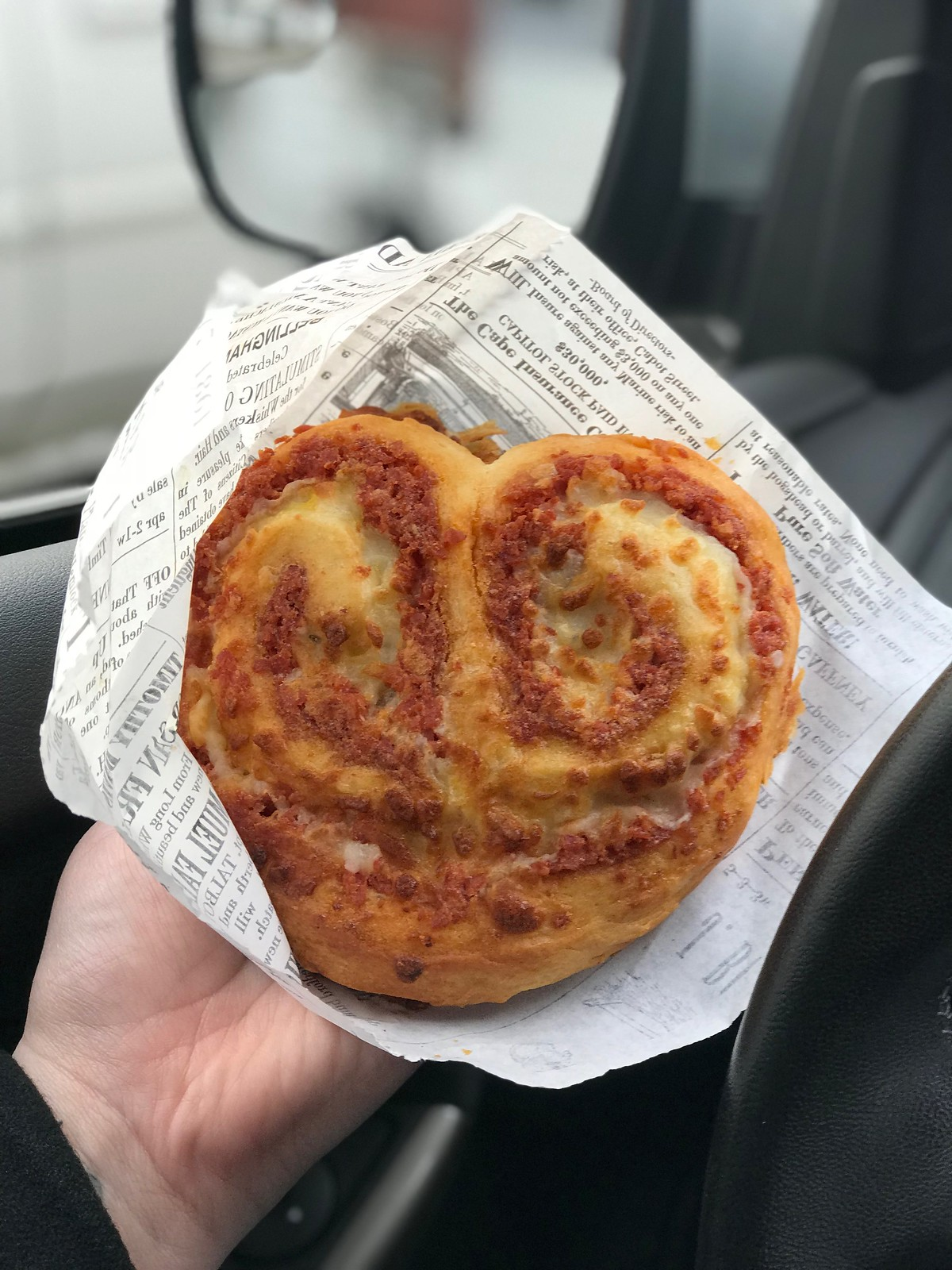 Pepperoni roll heart