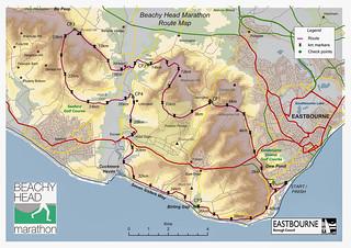 Route Beachy Head Marathon