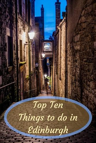 Top Ten Things to do in Edinburgh