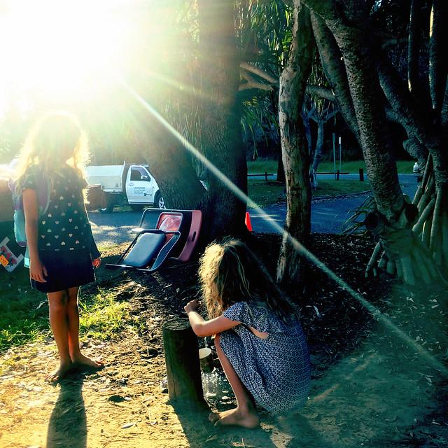 Daisy and Roxy. Last morning in Yamba.