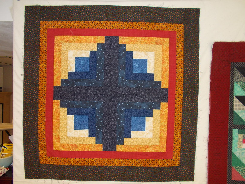 First Log Cabin by Sandi Walton at Piecemeal Quilts