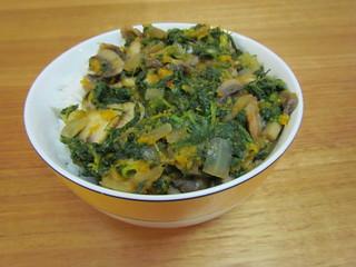 Spinach Mushroom Curry (Saag Mushroom)