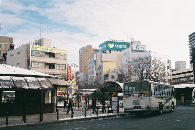 In front of the Morioka Station