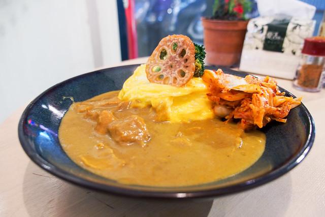 爺兒咖哩 | 台北汀洲路-平價小店咖哩飯
