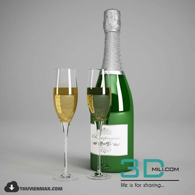 27  Champagne Bottle 3D Models - 3D Mili - Download 3D Model