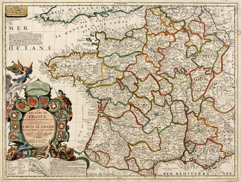 Jean-Baptiste Nolin - Le Royaume de France avec ses Acquisitions suivant le Traite de Paix de Ryswick 1697