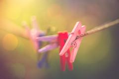 Tiny clothespins