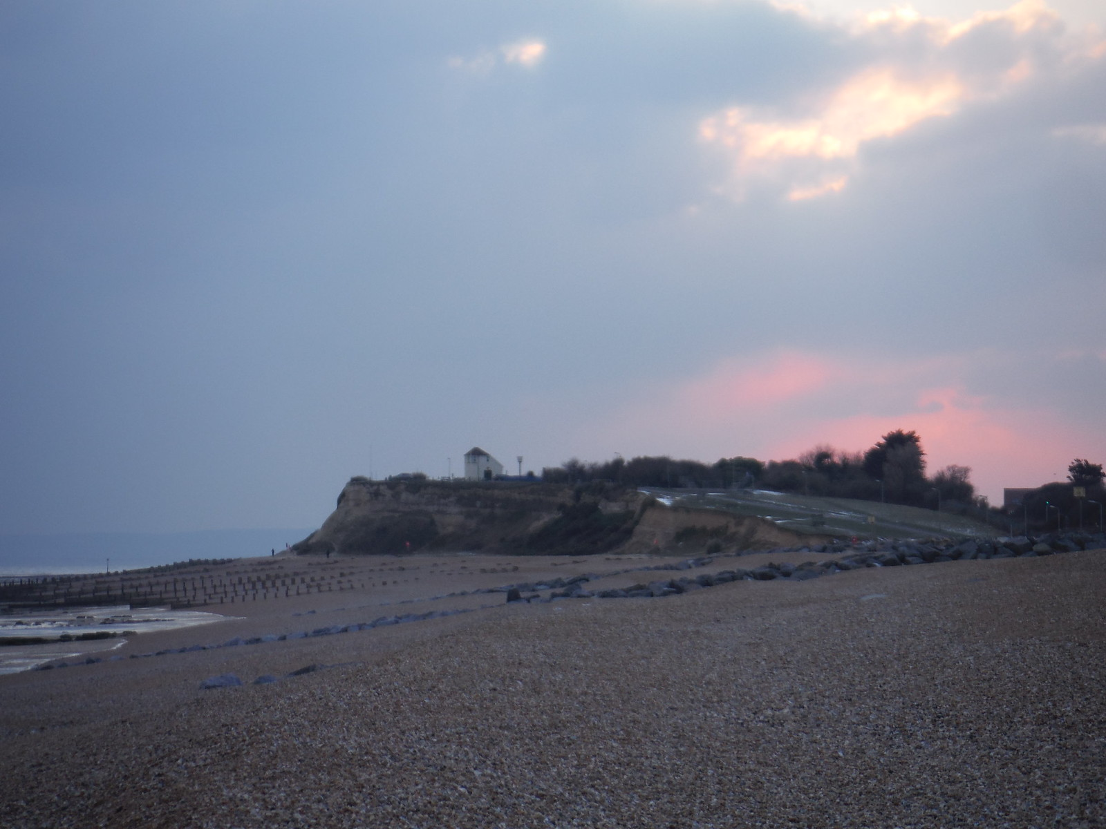 Pink Sky, Glyne Gap SWC Walk 66 - Eastbourne to Hastings via Bexhill