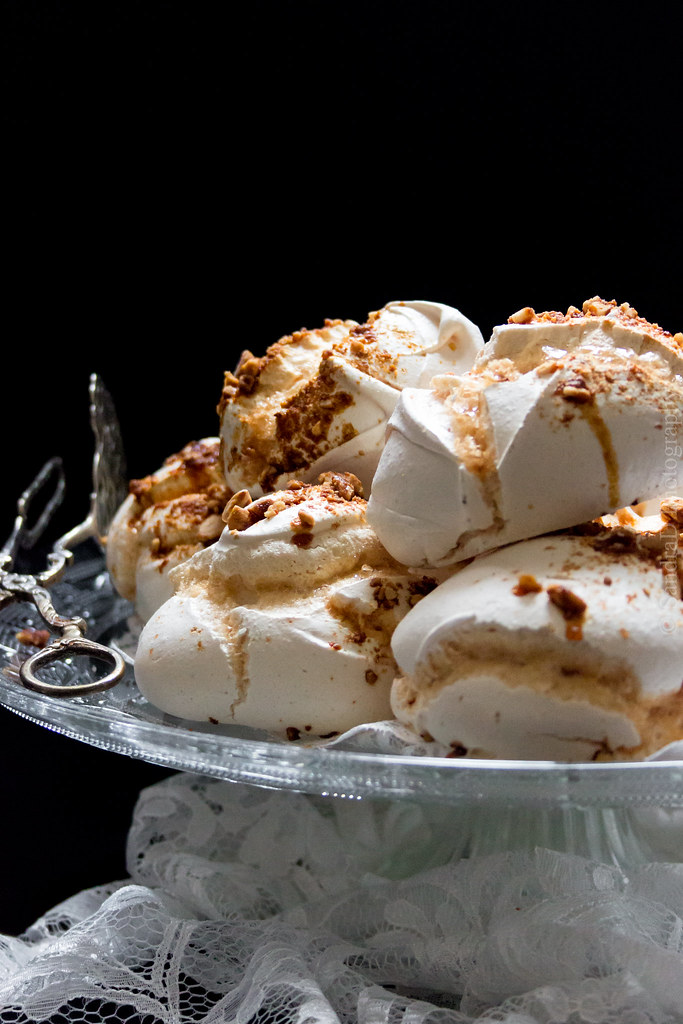 Piles of Spiced Praline Meringues
