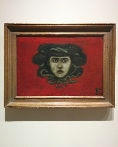 """Head of Medusa (Head of Ettie Stettheimer as Medusa)"", 1908 or 1909  #toronto #artgalleryofontario #florinestettheimer #stettheimerago"