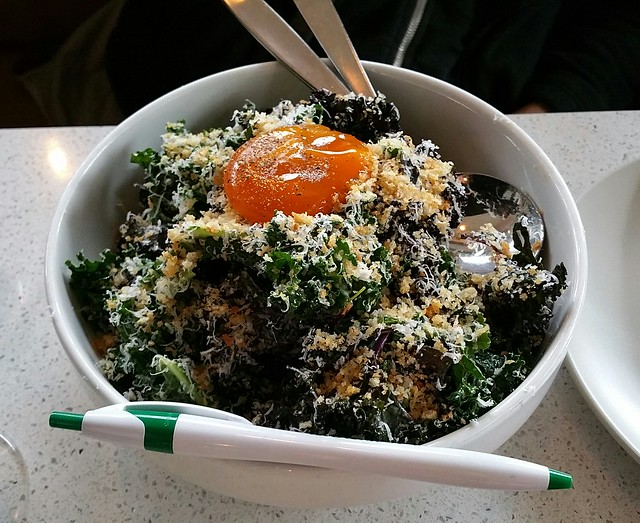 2018-Jan-28 Bufala - kale caesar salad minus bacon