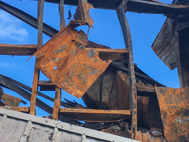 Decay against a blue sky