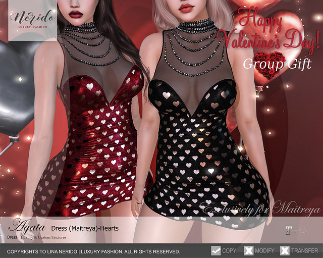 ~Nerido~Agata Dress(Maitreya)-Heart GROUP GIFT