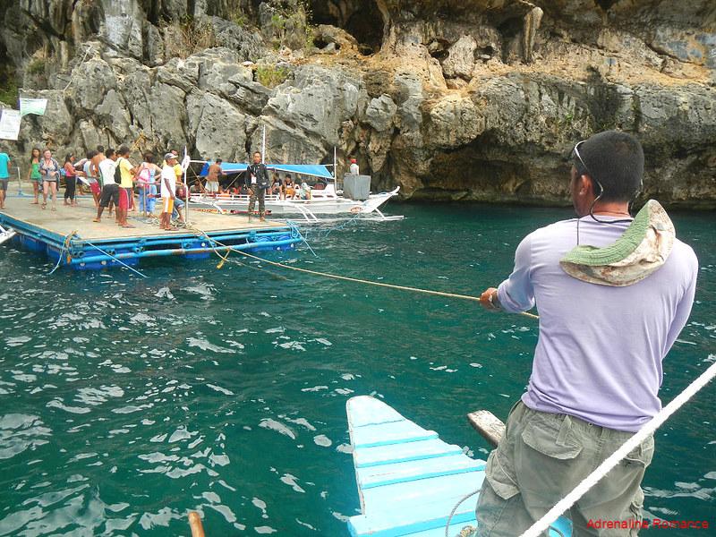 Docking at Tanke Lagoon