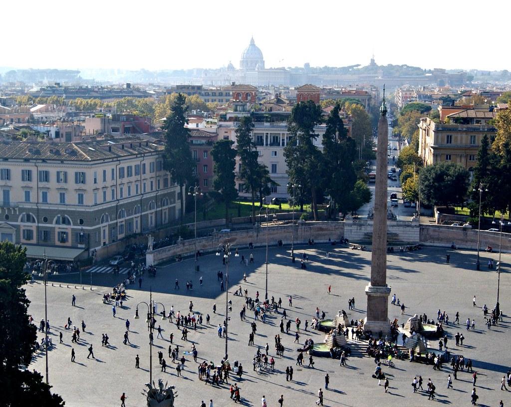 Piazza Popolo Pincion kukkulalta