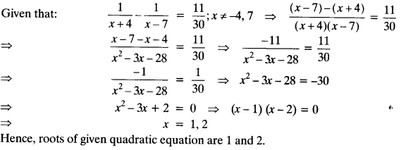 Quadratic Equations Chapter Wise Important Questions Class 10 Mathematics 133