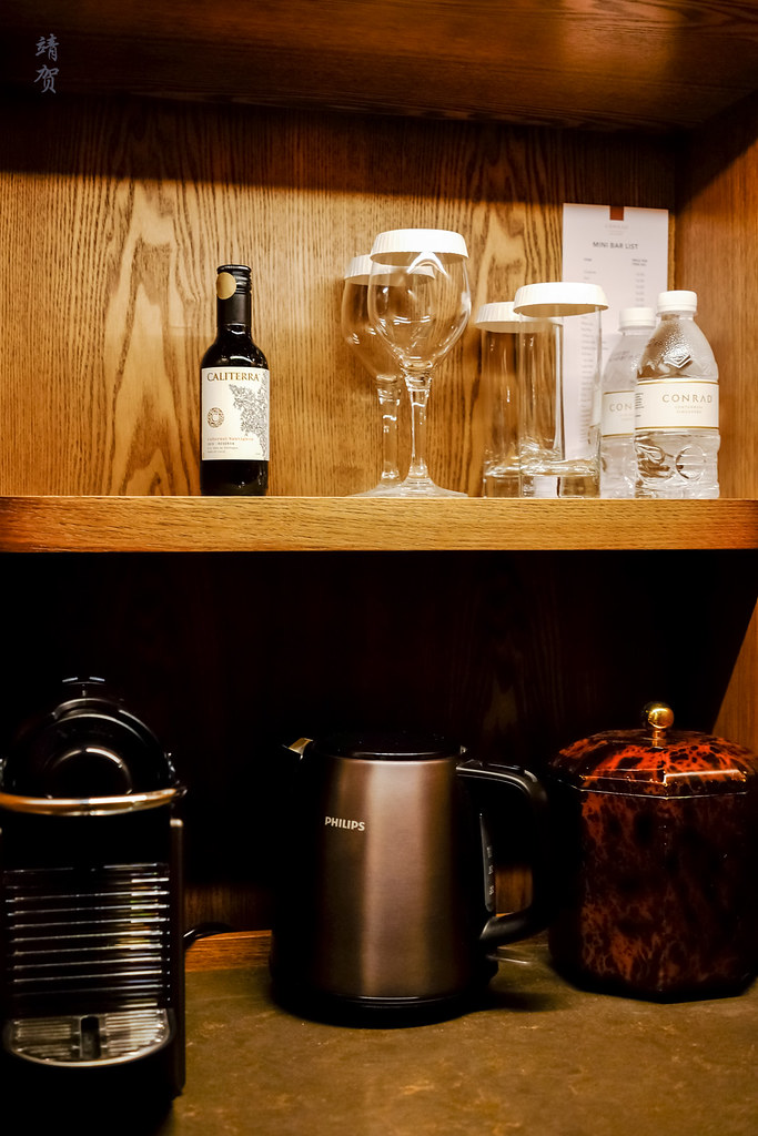 Nespresso machine in the minibar