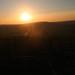 SDW: Sun setting ove Combe Hill across the River Adur