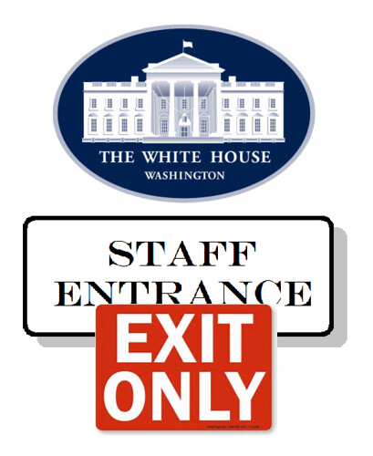 Trump White House Staff Stampedes for the Exit
