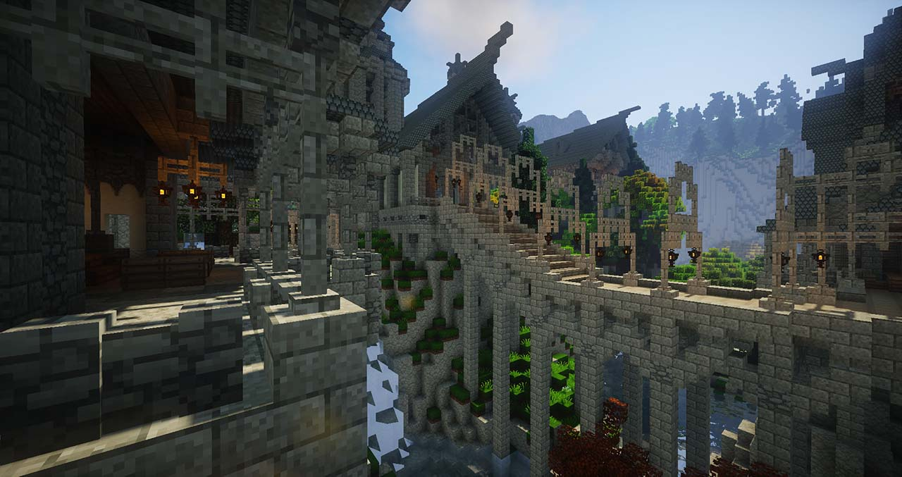 Minecraft Middle Earth By @mcmiddleearth: Rivendell (House of Elrond) – Elven Town Where Fellowship Of The Ring Has Started