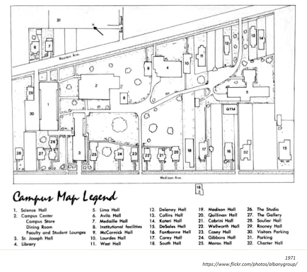 St Rose Campus Map.College Of St Rose Campus Map 1971 Albanygroup Archive Flickr