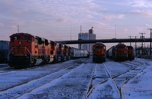 LNG Twilight on the BNSF