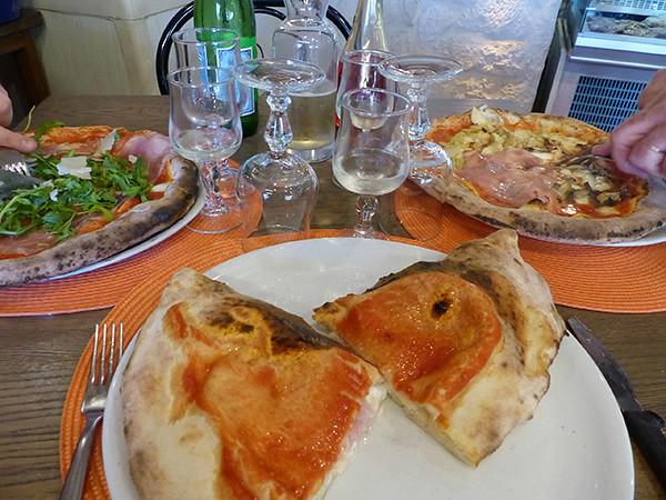 tre pizze