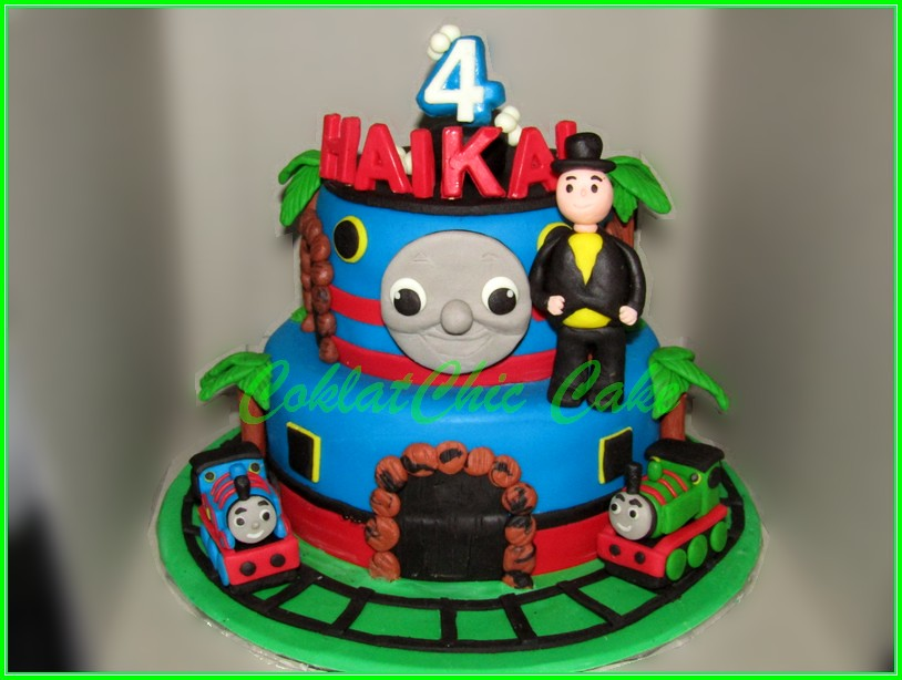 Cake Thomas The Train HAIKAL 15 + 12 cm