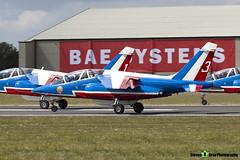 E165 3 F-TERE - E165 - Patrouille de France - French Air Force - Dassault-Dornier Alpha Jet E - RIAT 2010 Fairford - Steven Gray - IMG_9442