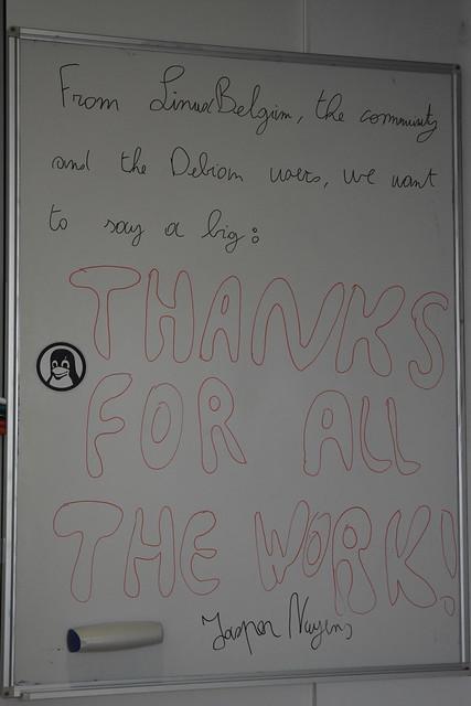 Linux Belgium message