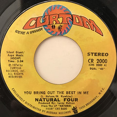 NATURAL FOUR:YOU BRING OUT THE BEST IN ME(LABEL SIDE-A)