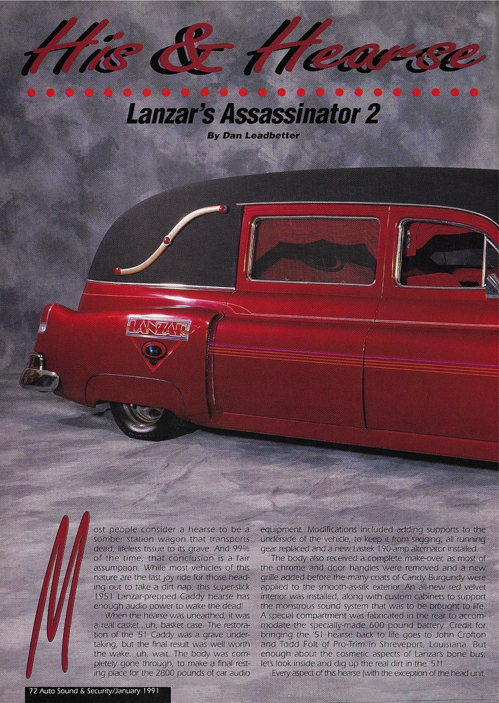 Lanzar - 1951 Cadillac Hearse - 1991 AS&S