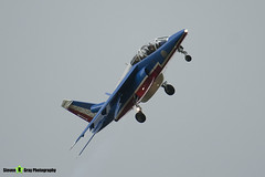 E95 1 - E95 - Patrouille de France - French Air Force - Dassault-Dornier Alpha Jet E - RIAT 2008 Fairford - 070711 - Steven Gray - IMG_7109
