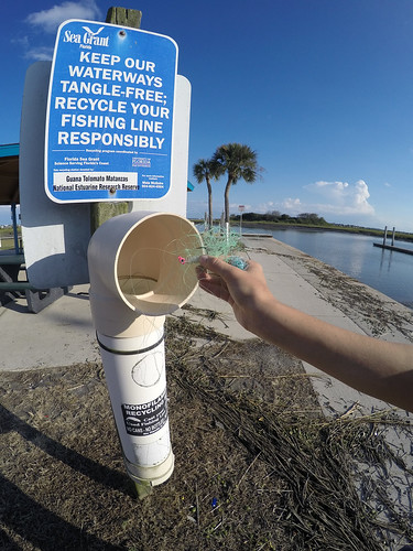 Monofilament Recycling Bin